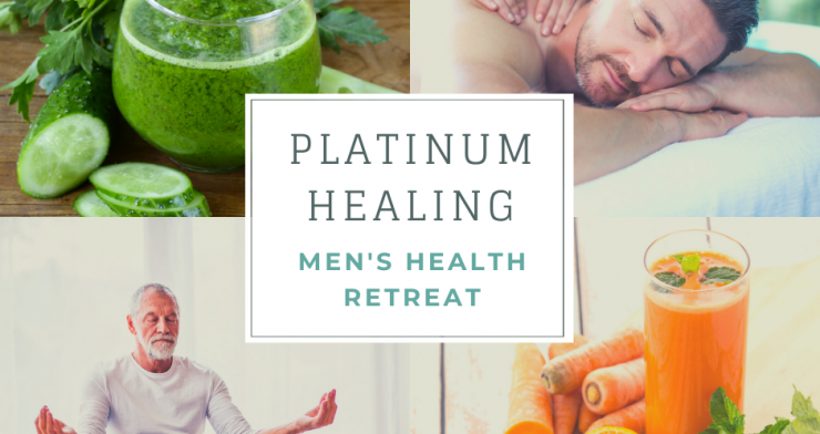 Men's Health Retreat with Detox, Yoga and 50+ Treatments in Glastonbury and Kent