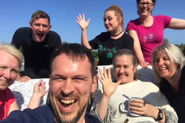 Group shot of retreat participants